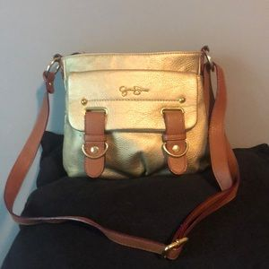 Jessica Simpson gold satchel